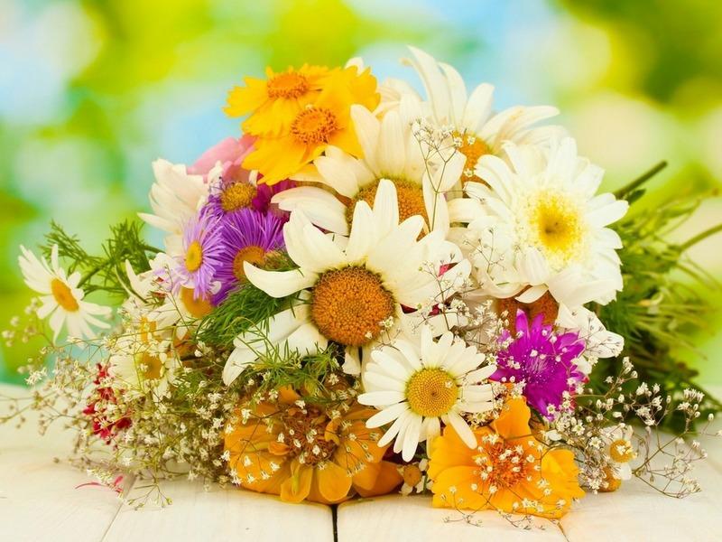 Красивый букет цветов 800 x 600