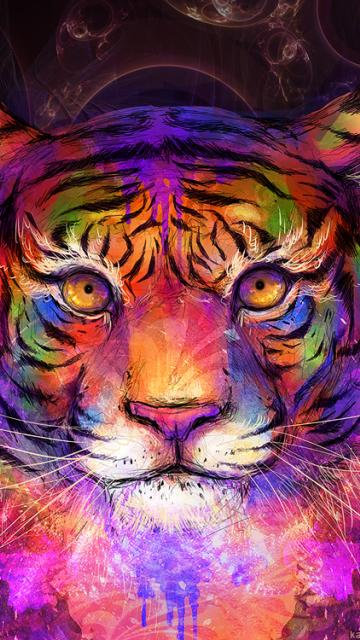 Trippy tiger head