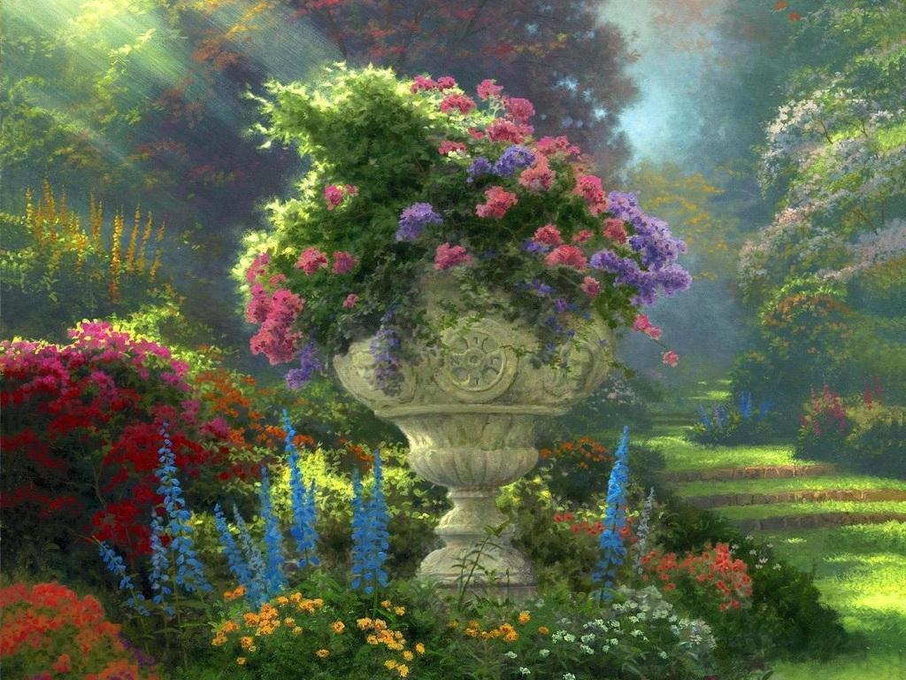 Цветущий сад 1024 x 768