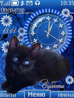 Black cat by NZ.