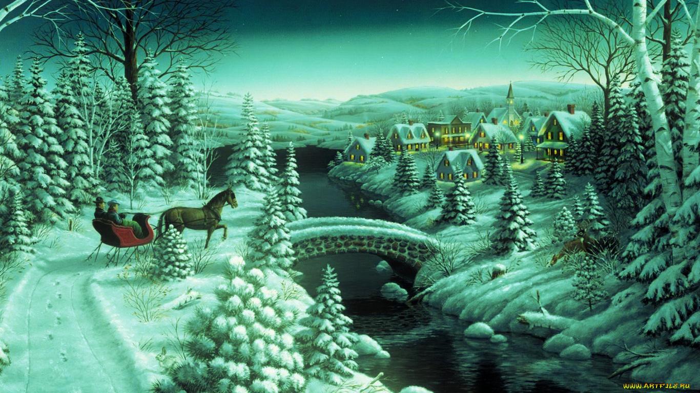 Картинки зимы на рабочий стол 1366х768