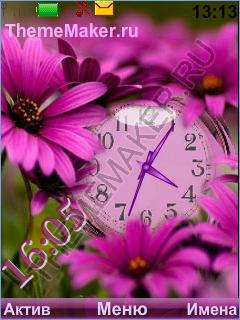 Часы в цветочках