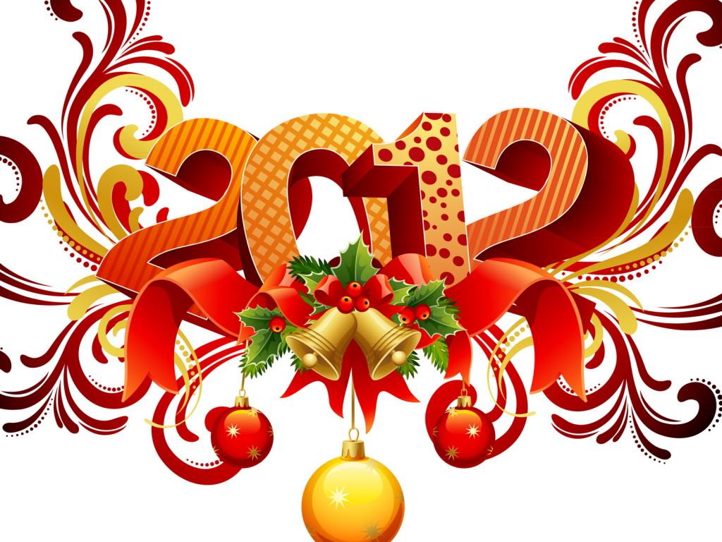 С новым годом 2012 1024 x 768